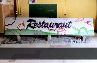 Décoration d'une salle de restaurant