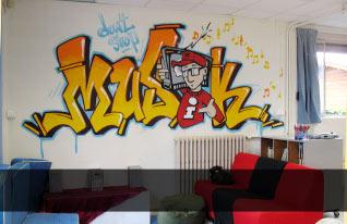 Décoration intérieure d'un foyer d'élèves