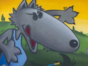 loup-paint